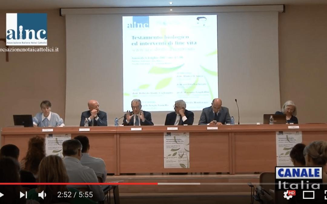 Testamento biologico ed interventi di fine vita – VIDEO