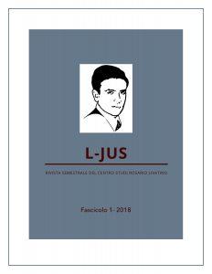 copertina rivista l-jus