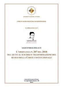 Ordinanza n.207 del 2018 tra aiuto al suicidio e trasformazione del ruolo della Corte Costituzionale